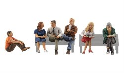 People Sitting (HO Scale)