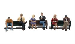 People On Benches (HO Scale)