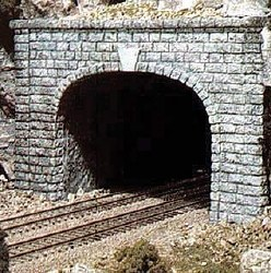 N Cut Stone Double Tunnel Portal (x2)