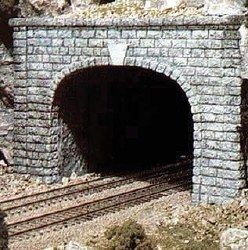 HO Scale Tunnel Port Cut Stn Double (x1)