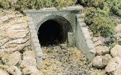 HO Scale Culvert Masonry Arch (x2)