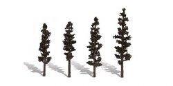 4 Standing TimberTrees Conifer 4-6in 10.16-15.24cm