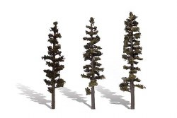 3 Standing Timber Trees Conifer 6-7in 15-18cm