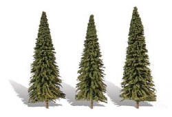 3 Forever Green Trees Fir 6-7in 15-18cm