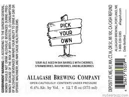 Allagash Brewing Co. Pick Your Own Sour