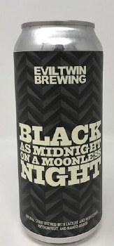 Evil Twin Brewing Black as Midnight Stout