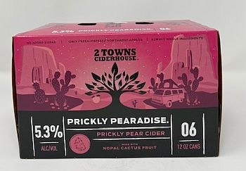 2 Towns Ciderhouse Prickly Pearadise Cider