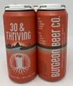 Burgeon Beer Co. 30 & Thriving West Coast IPA