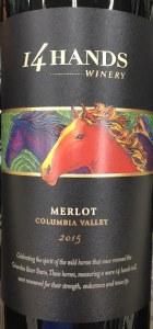 14 Hands Merlot Columbia Valley 2016(750ML)