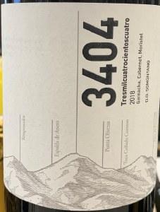 3404 Somontano Tinto 2018 (750ml)