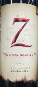 7 Deadly Zins Old Vine Zinfandel Lodi 2016 WA (750ML)