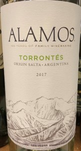 Alamos Torrontes Salta, Argentina 2017(750ml)