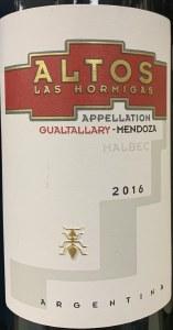 Altos Las Hormigas Gualtallary Reserve Malbec 2017 (750ML)
