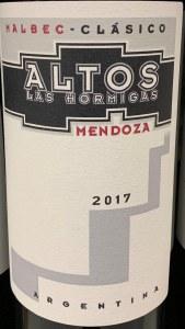 Altos Las Hormigas 'Clasico' Malbec Mendoza 2018 (750ML)