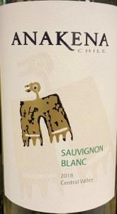 Anakena Sauvignon Blanc 2019 (750ml)