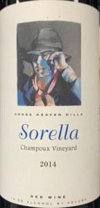 Andrew Will Sorella Champoux Vineyard Horse Heaven Hills 2014 (750ML)