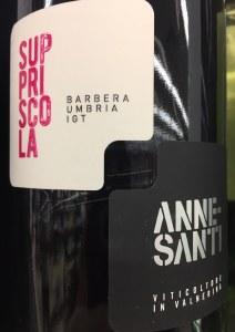 Anne Santi Suppriscola Barbera Umbria IGT 2016 (750ml) NATURAL