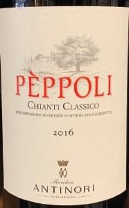 "Antinori ""Peppoli"" Chianti Classico 2017(750ML)"