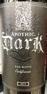 Apothic Dark Red Blend California 2015 (750ML)