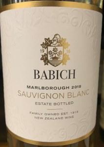 Babich Sauvignon Blanc Marlborough 2018 (750ml)