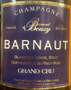 Barnaut Grand Cru Blanc de Noirs Brut Quintessence de Pinot Noir Bouzy Champagne NV (750ml)