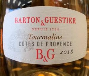 Barton & Guestier 'B & G' Cotes de Provence Tourmaline Rose 2018 (750ml)