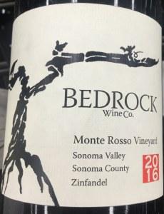 Bedrock Zinfandel Monte Rosso Vineyard Sonoma 2016 (750ML)