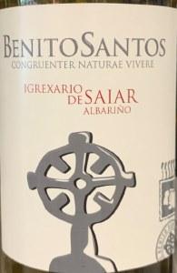 Benito Santos Igrexario de Saiar Albarino 2018 (750ml)