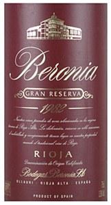 Bodegas Beronia Gran Reserva Rioja 1982 (1.5L)