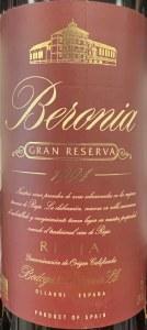 Bodegas Beronia Gran Reserva Rioja 1994 (750ML)