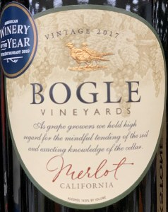 Bogle Merlot California 2018 (750ML)