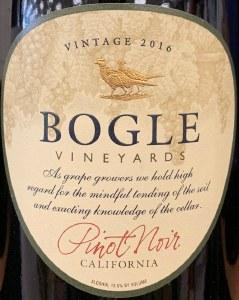 Bogle Pinot Noir California 2016 (750ML)