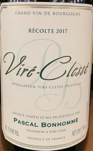 Domaine Pascal Bonhomme Vire Clesse 2017 (750ml)