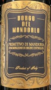 Borgo del Mandorlo Primitivo di Manduria 2018 (750ml)