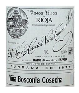 Lopez de Heredia 'Vina Bosconia' Gran Reserva Rioja 1976 (750ML)