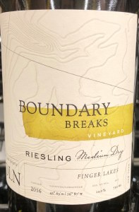 Boundary Breaks Reserve No.198 Riesling Finger Lakes 2018 (750ml)