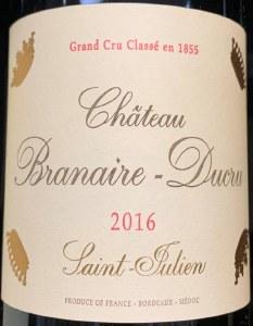 Chateau Branaire Ducru Saint Julien 2016(750ml)
