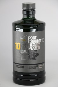 Bruichladdich Port Charlotte Heavily Peated 10 Year Old Single Malt Scotch Whiskey, Islay (750ML)