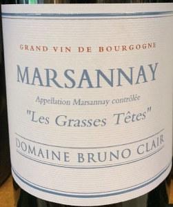 Domaine Bruno Clair Les Grasses Tetes Marsannay Rouge 2015 (750ml)