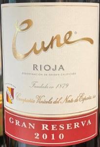 CVNE Cune Gran Reserva Rioja 2010 (750ml)