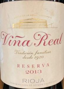 CVNE 'Vina Real' Reserva 2013 (750ML)