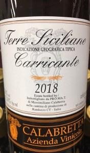 Calabretta Carricante Sicilia 2018 (750ML)