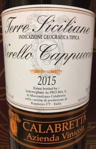 Calabretta Nerello Cappuccio Sicilia 2015 (750ML)