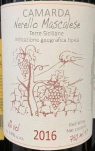 Camarda Nerello Mascalese Terre Siciliane 2016 (750ml)