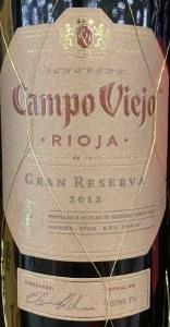 Campo Viejo Rioja Gran Reserva 2013(750ML)
