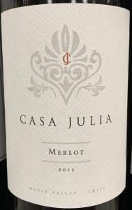 Casa Julia Merlot 2015 (750ml)