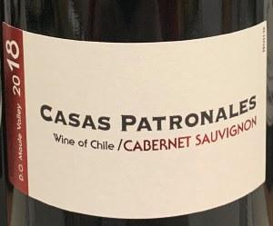 Casas Patronales Valle del Maule Cabernet Sauvignon 2018 (750ml)