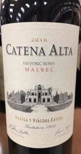 Catena Zapata Alta Malbec 2015 (750ml)