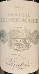 Chateau Sainte Marie Entre Deux Mers Madlys Blanc 2016 (750ml)