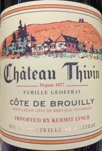 Chateau Thivin Cote de Brouilly Beaujolais 2019 (750ml)